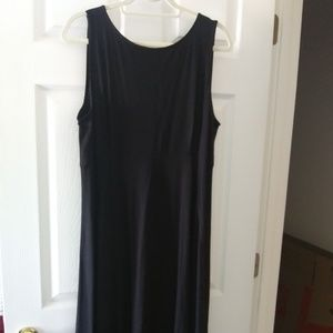 EILEEN FISHER VISCOSE JERSEY MAXI DRESS V BACK XL